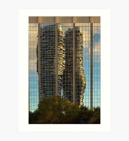 Marilyn Monroe Towers Reflected Art Print