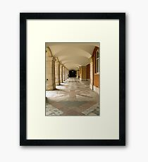 Castle garden passage with arches Framed Print