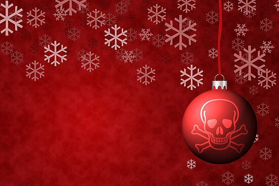 Skull & Crossbones holiday ornament by Jeff Knapp