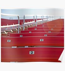 Red stadium seating Poster