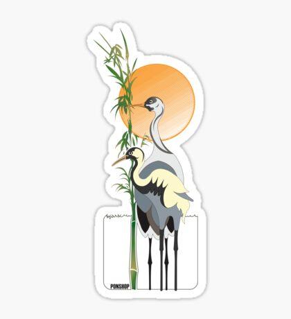 Cranes Tee Sticker