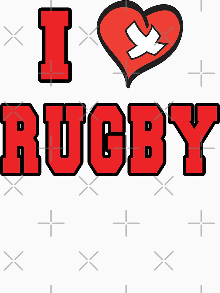 I Love Rugby by SportsT-Shirts