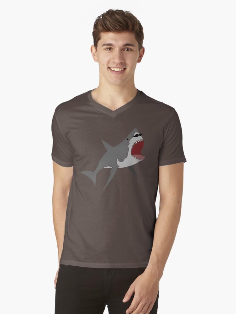 stache shark by Lorren Francis