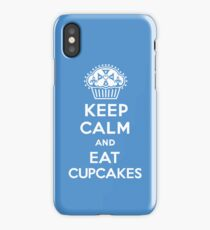Keep Calm and Eat Cupcakes blue 3G  4G  4s iPhone case  iPhone Case/Skin