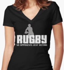 Rugby Just Victims Women's Fitted V-Neck T-Shirt