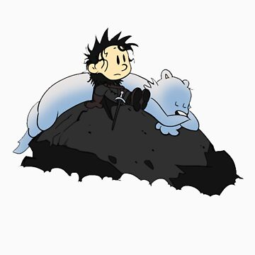 Jon and Ghost by rabzila
