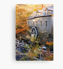 Sable River Mill in Autumn Canvas Print