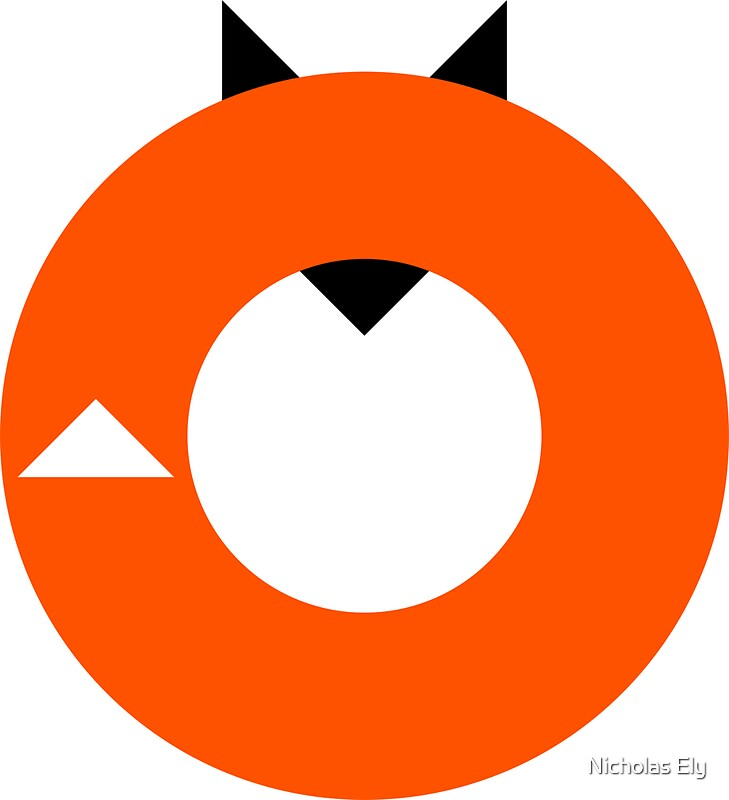 """A Most Minimalist Fox"" Stickers By Nicholas Ely"