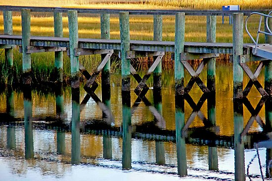 Dock Reflections by phil decocco