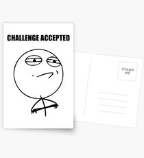 Challenge Accepted (HD) Postcards