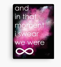 the perks of being a wallflower Canvas Print