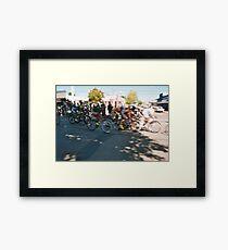 llegada / finish Framed Print