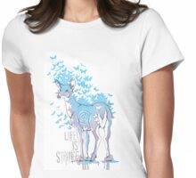 Life is Strange- Watercolor Butterfly Doe  Womens Fitted T-Shirt