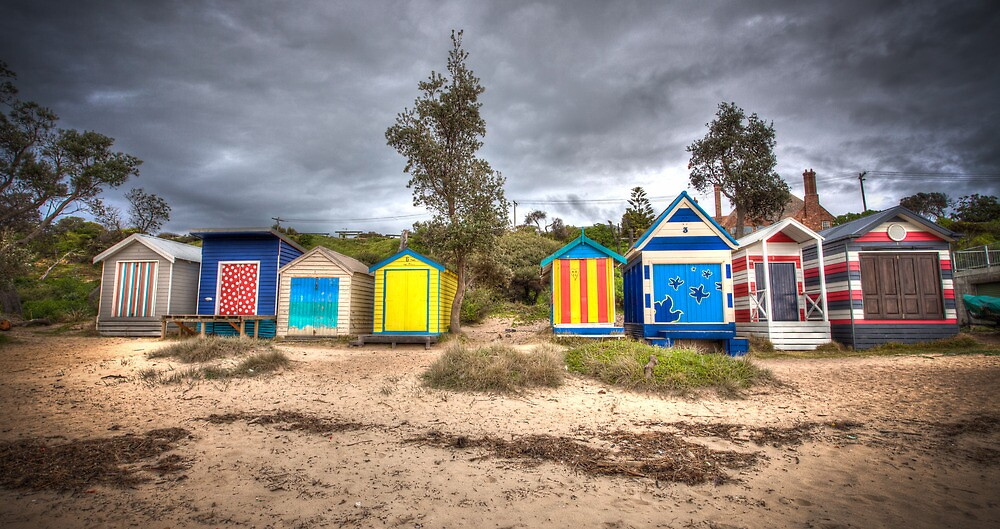 Bathing Boxes by Shari Mattox-Sherriff