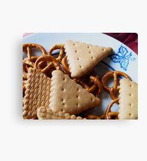 Biscuits & pretzels Canvas Print