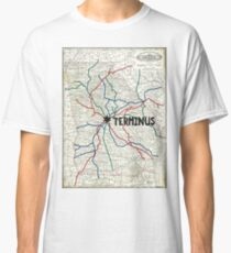 The Walking Dead - Terminus Map Classic T-Shirt