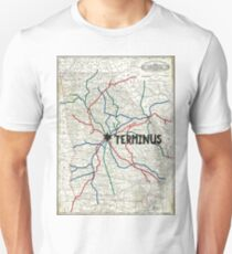 The Walking Dead - Terminus Map Unisex T-Shirt