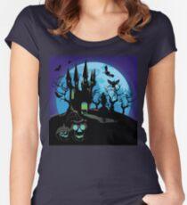 Haunted Halloween Castle 3 Women's Fitted Scoop T-Shirt