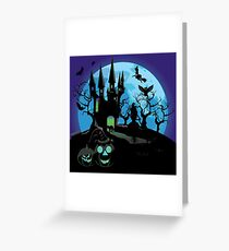 Haunted Halloween Castle 3 Greeting Card