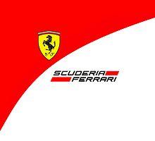 Ferrari Scuderia F1 iPhone/iPod Case by Simon Kelshaw