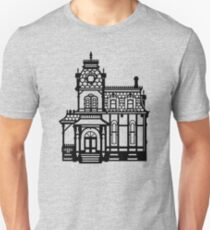 Victorian House - black & white T-Shirt