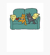 Gamer Cats Photographic Print