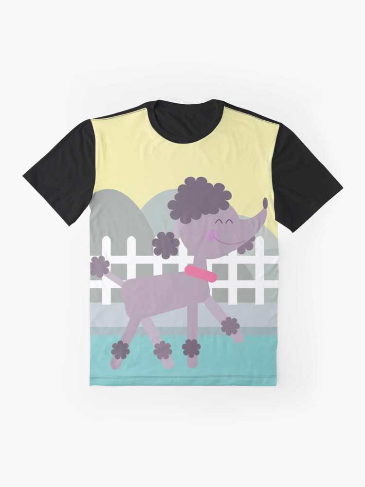 Alternate view of Happy Poodle Graphic T-Shirt