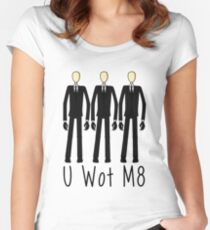 U Wot Slenderman Women's Fitted Scoop T-Shirt