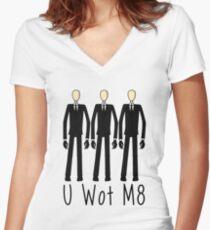 U Wot Slenderman Women's Fitted V-Neck T-Shirt