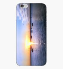 Bay view sunset iPhone Case