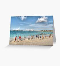 The Beach at Arawak Cay in Nassau, The Bahamas Greeting Card
