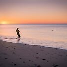 Skipping Stones at Sunset by Raymond Warren