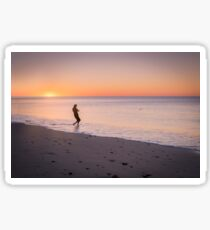 Skipping Stones at Sunset Sticker