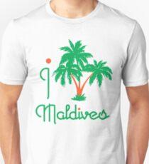 I LOVE MALDIVES T-shirt Unisex T-Shirt