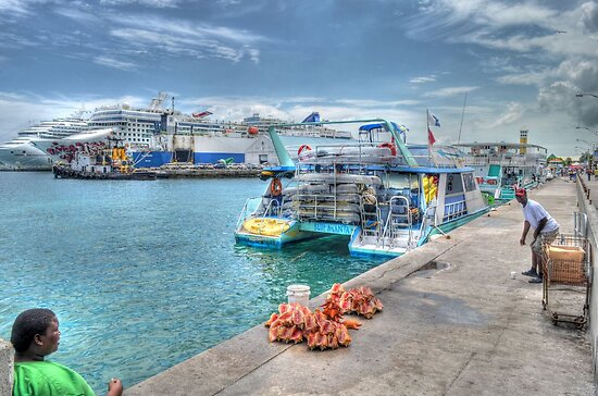 Prince George Wharf in Nassau Harbour, The Bahamas by Jeremy Lavender Photography
