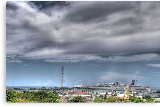 View of Nassau Harbour from Fort Fincastle, The Bahamas by Jeremy Lavender Photography