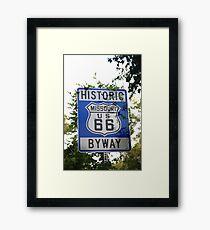 Route 66 Shield in Missouri Framed Print