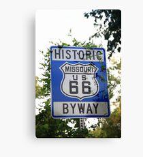 Route 66 Shield in Missouri Canvas Print