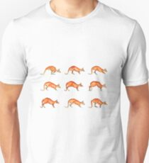 Red Kangaroo in Motion Unisex T-Shirt