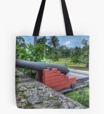 West Bay Street at Arawak Cay in Nassau, The Bahamas Tote Bag