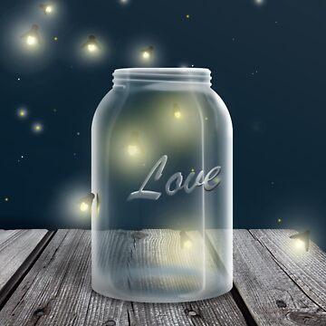 Midnight Firefly Mason Jar by Starzraven