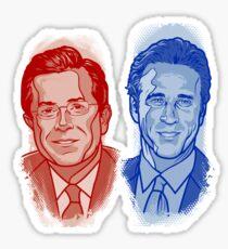Jon Stewart and Stephen Colbert Sticker