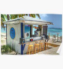 """Island Philosophy"" on Junkanoo Beach in Nassau, The Bahamas Poster"