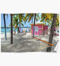"""Gloria's Place"" on Junkanoo Beach in Nassau, The Bahamas Poster"