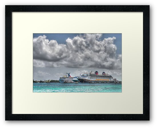 Cruise Ships at the Prince George Wharf Port in Nassau, The Bahamas by Jeremy Lavender Photography