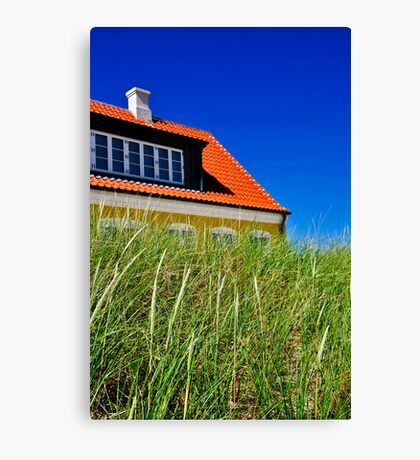 Typical Danish house in Jutland, Denmark Canvas Print