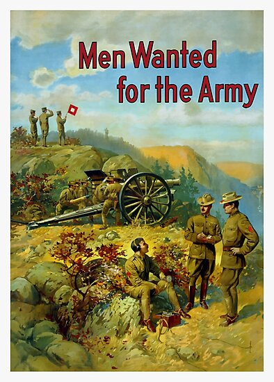 Men Wanted For The Army by warishellstore