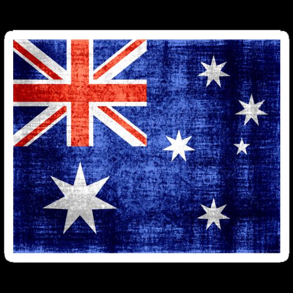 Australia Flag Vintage by Nhan Ngo