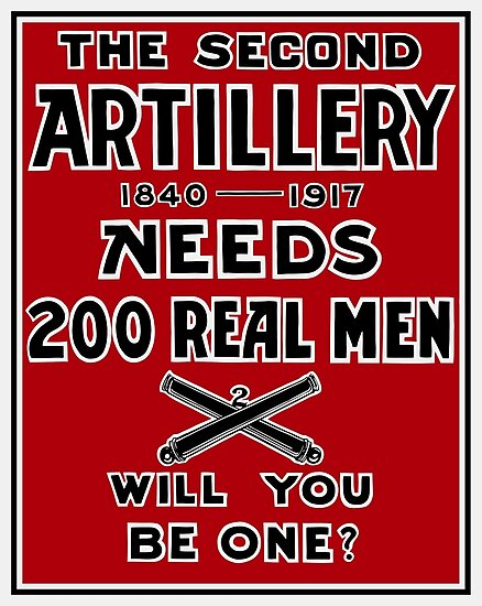 The Second Artillery Needs 200 Real Men -- WWI by warishellstore