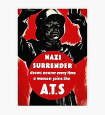 Join The A.T.S. -- WWII Propaganda Photographic Print
